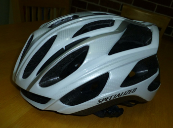 My Specialized cycling helmet before customising..