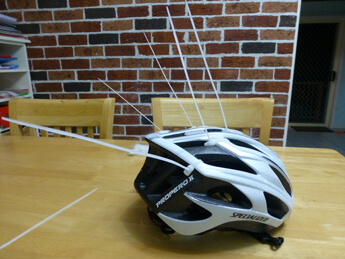 How to cable tie your cycling helmet (my Specialized cycling helmet now with cable ties)